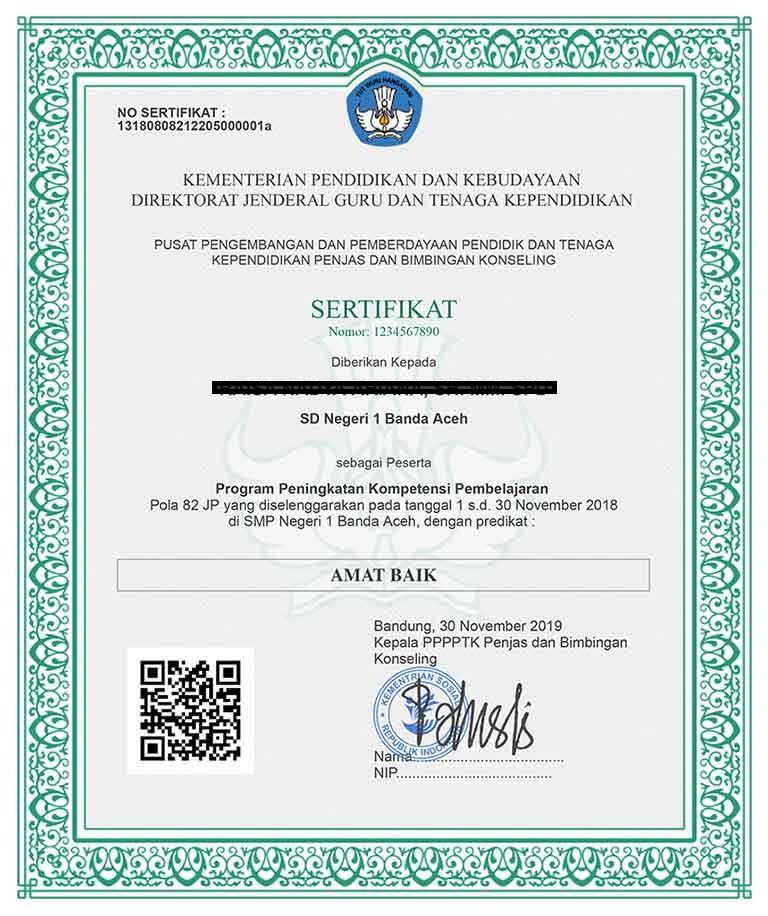 gambar sertifikat diklat pkp tahun 2019