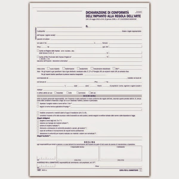 Certificazione conformit impianti compravendita - Contratto di compravendita immobiliare fac simile ...