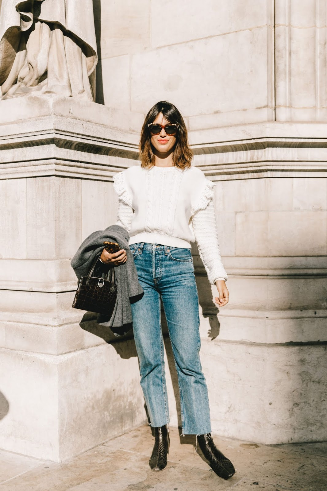 The French-Girl Way to Wear a Ruffled Sweater — Jeanne Damas Street Style