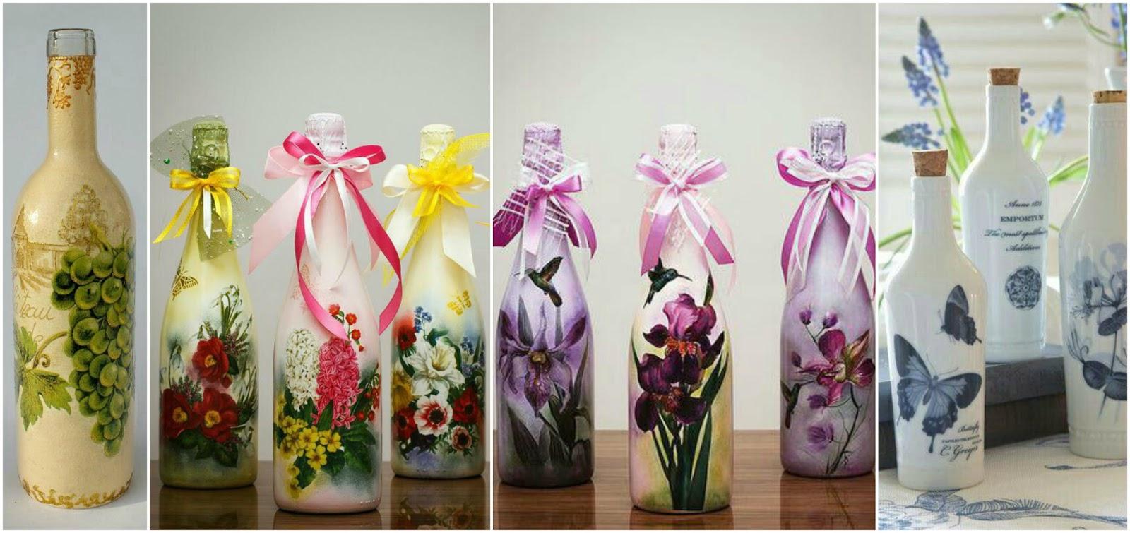 Decora y recicla tus botellas de vidrio con servilletas de - Servilletas de papel decoradas para manualidades ...