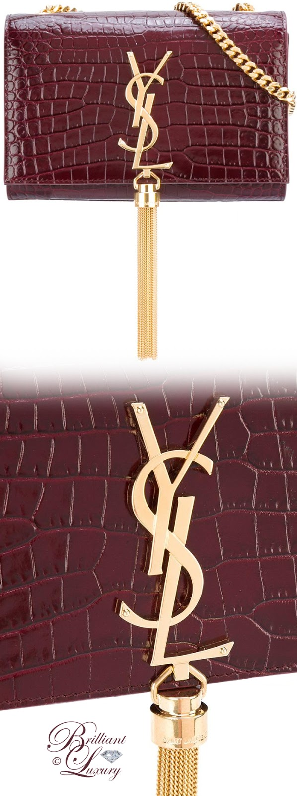 Brilliant Luxury ♦ Saint Laurent Small Monogram Kate Shoulder Bag