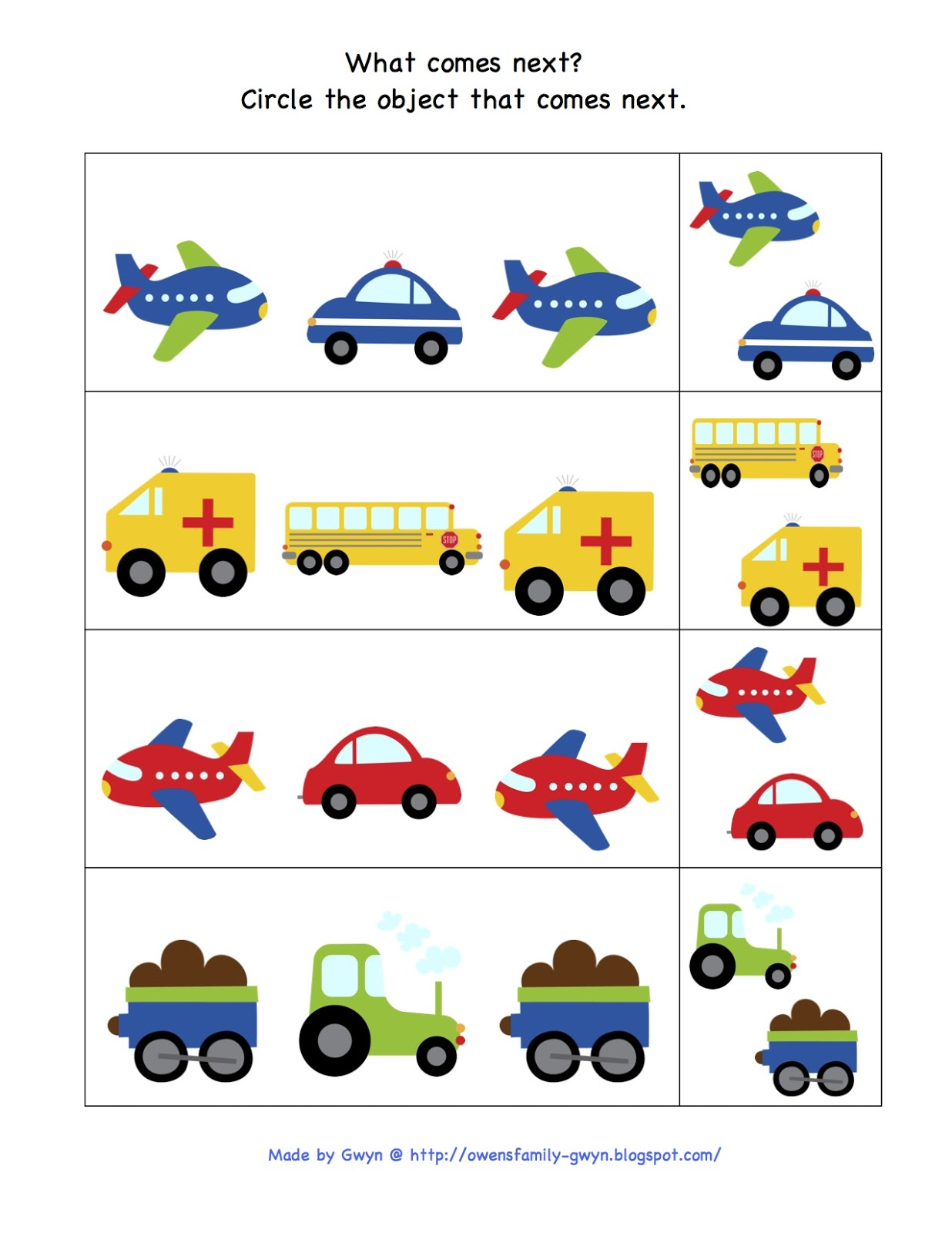 Trains Planes And Automobiles Printable Preschool