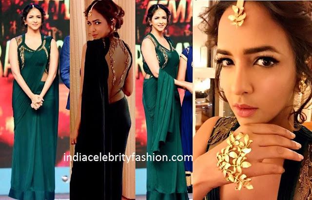 Lakshmi Manchu in Sari Gown