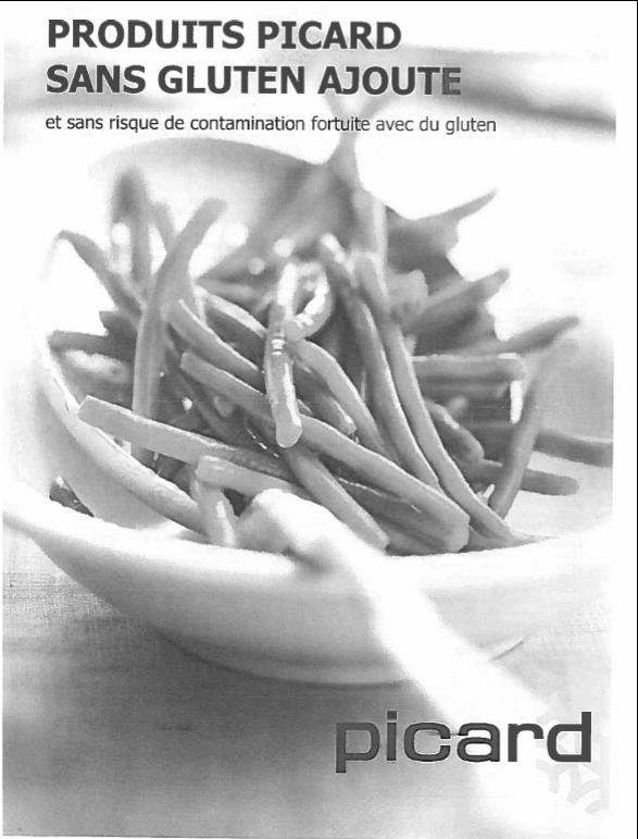 liste produits Picard sans gluten