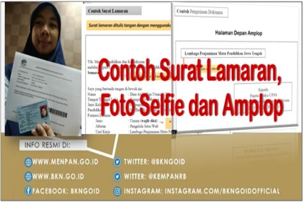 Contoh Surat Lamaran Foto Selfie Serta Penulisan Amplop Cpns
