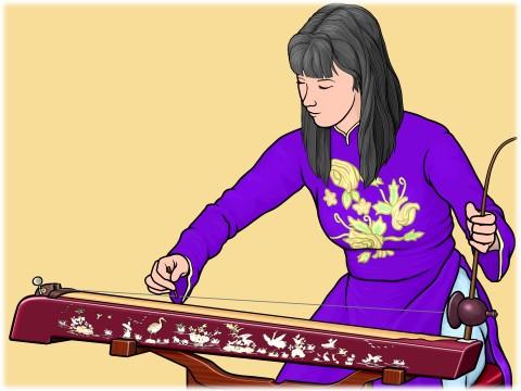 ベトナムの楽器 ダンバウ