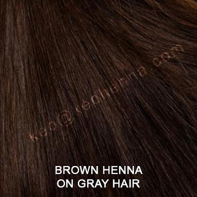 Brown Henna Hair Color On Gray Hair