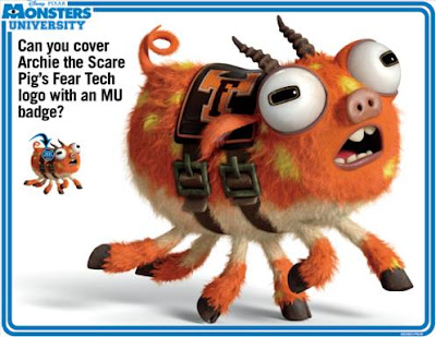 Download free #MonstersU Games and Activity sheets