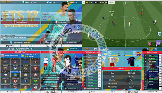 Download First touch Soccer FTS 2017 Mod Apk Data Obb Terbaru Android