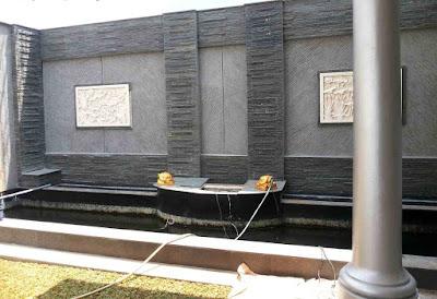 Jasa Tukang Taman Tuban Gambar Waterwall air mancur