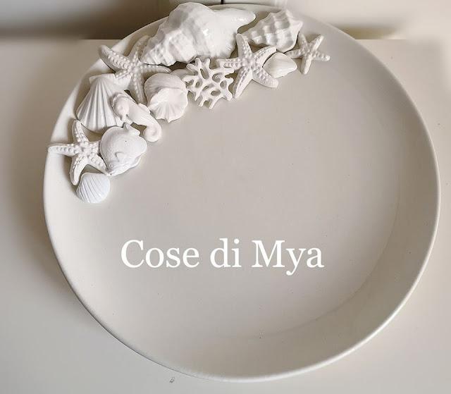 Coordinato in ceramica stile marino