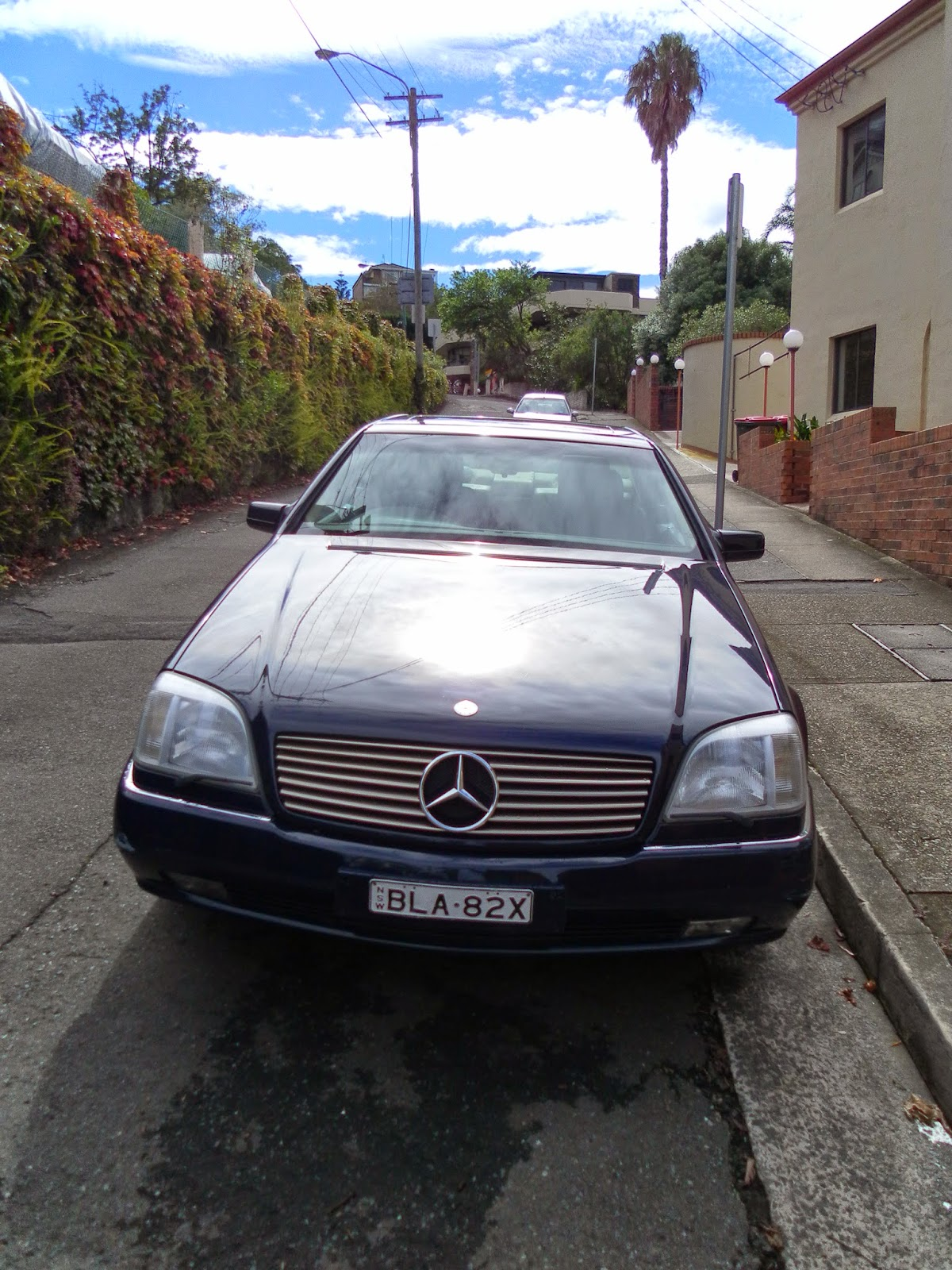 aussie old parked cars 1996 mercedes benz c140 s 500 coupe. Black Bedroom Furniture Sets. Home Design Ideas