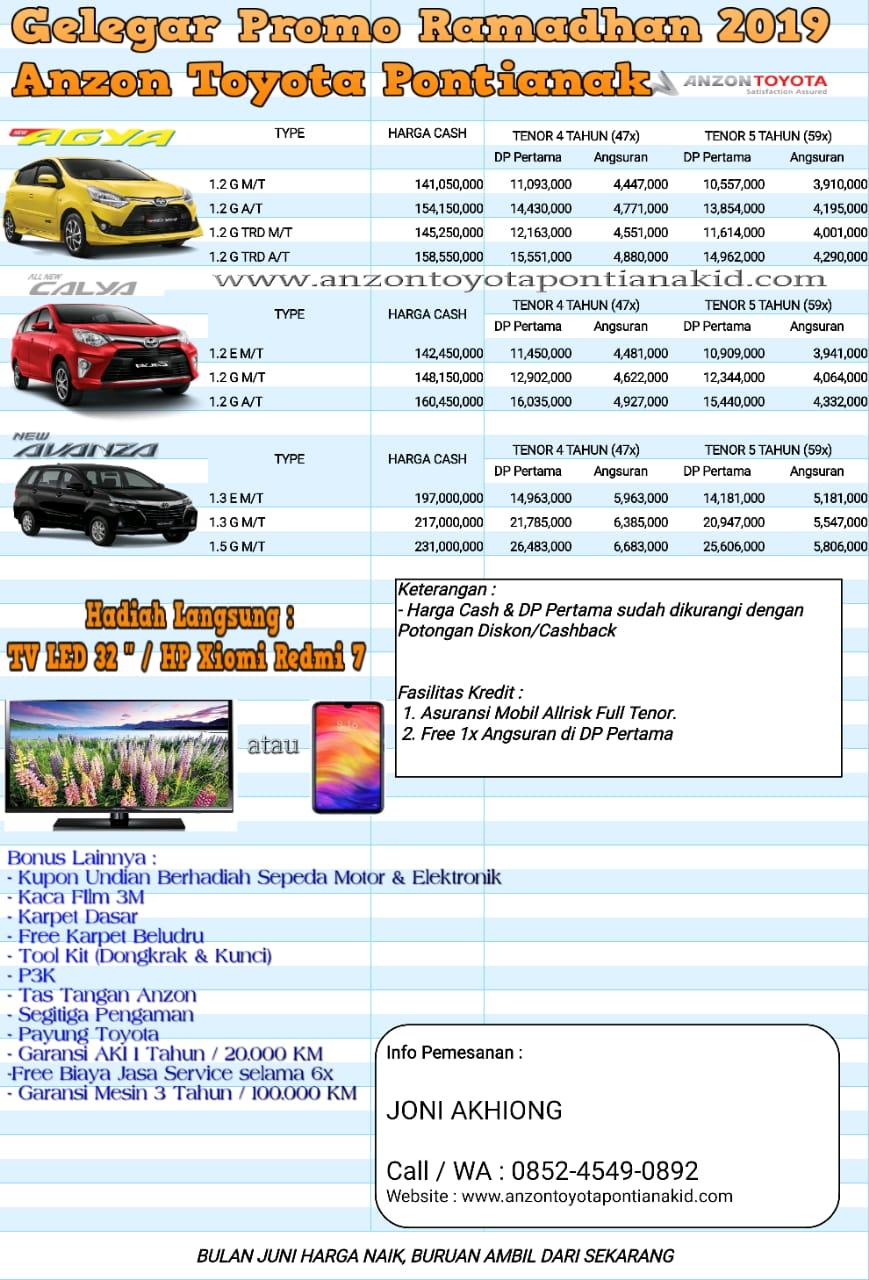 Promo Ramadhan 2019 Anzon Toyota Pontianak Anzon Toyota Pontianak