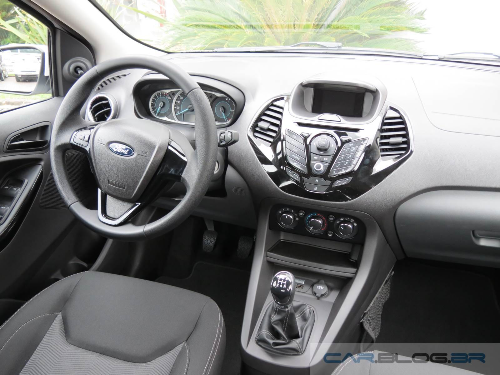 Ford ka sedan se e sel v deo pre os e especifica es car blog br - Interior ford ka ...