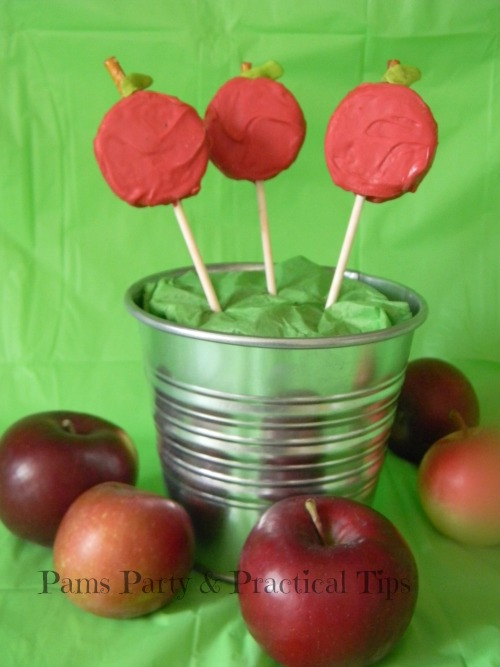 Apple Pops made with Oreo Cookies