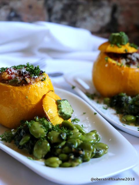 Gefüllte Zucchini, vegetarisch