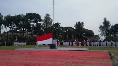 Paskibraka Siantar Gagal Naikkan Bendera Merah Putih  di HUT RI ke 71 Tahun