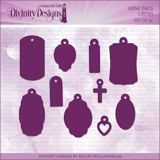 Divinity Designs LLC Custom Mini Tags Dies