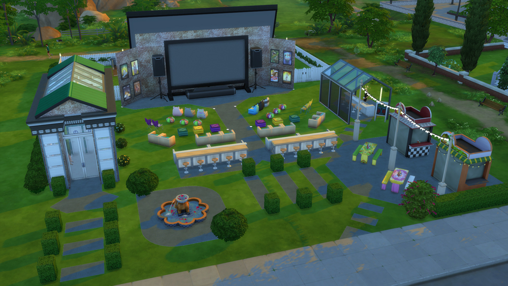 Athsndwords Sims 4 Designs: Outdoor Movie Magic
