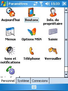 - ابدأ القائمة / الإعدادات Menu démarrer / Paramètres: