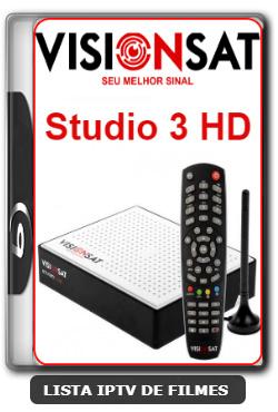 Visionsat Studio 3 HD Nova Atualização Melhoria de Sitema 61w ON, 63w ON, 107w ON, IKS ON, SD ON e HD ON V1.61 - 12-02-2020