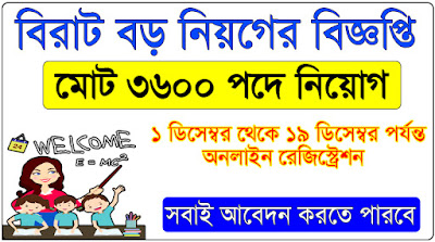 ৩৬০০ পদে নিয়োগ হবে শিক্ষক | Tripura Teachers Recruitment Board 2018