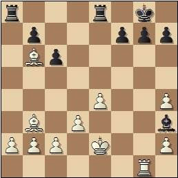 Partida de ajedrez Esteban Canal vs. Rafael Llorens, posición después de 21.Axb6, Barcelona 1936