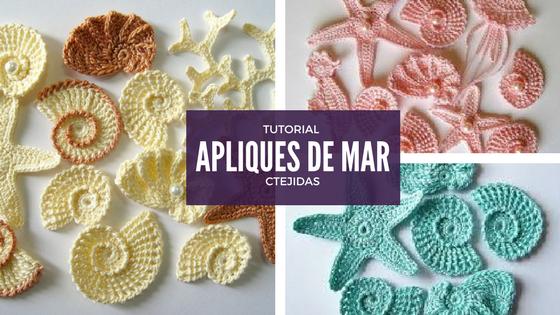 Tutorial 193: Apliques de Mar a Crochet