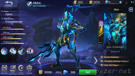 Alpha - Sea Gladiator Skin ML Season 6