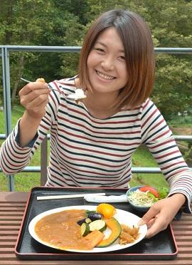 道の駅くりもと味処いっぷく夏野菜カレー大人気