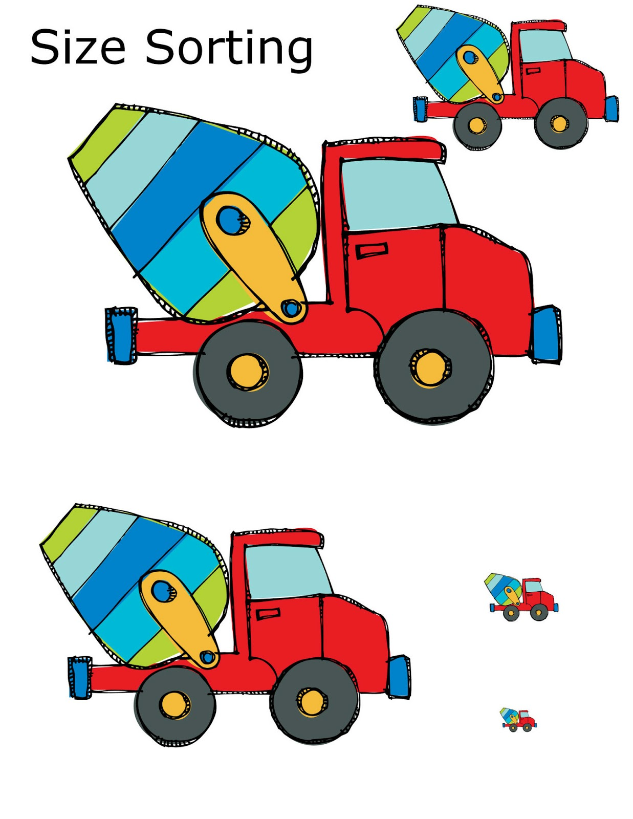 Construction Preschool Packet 3 Day Freebie