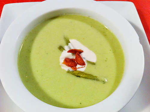 I'm back - with Tomatillo Gazpacho