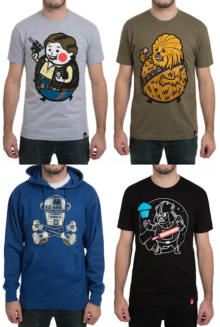 Star Wars T-Shirt Collection by Johnny Cupcakes – Big Kid Shooter, Big Kid Bigfoot, Bleep Bloop Crossbones Pullover & Girt Baker