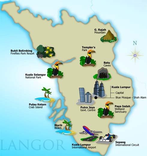 Senarai Lokasi Menarik Di Selangor