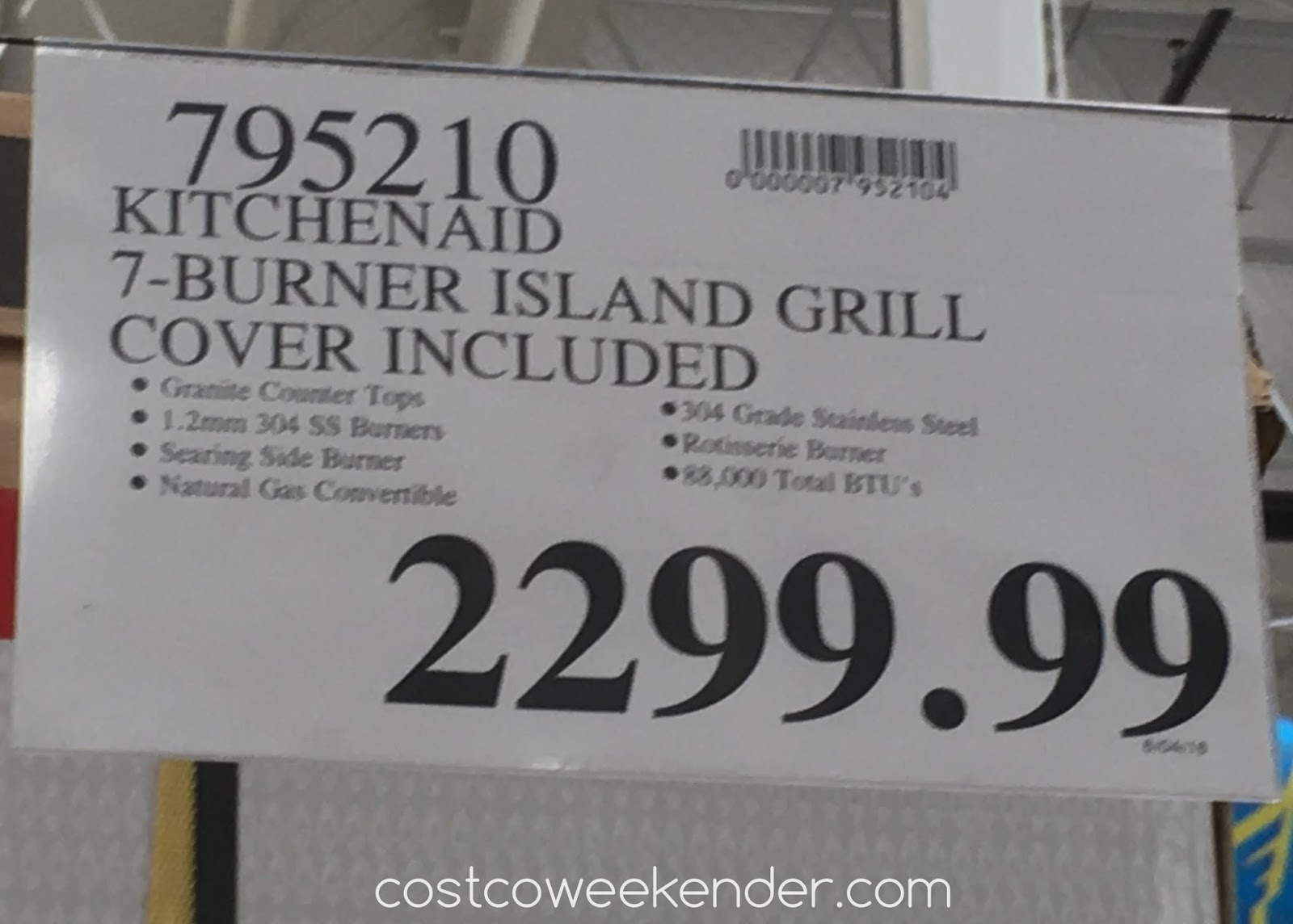 Kitchenaid Seven Burner Outdoor Island Gas Grill Model
