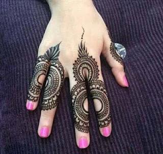 Mehndi for fingers only