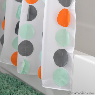 Land of Nod Inspired DIY Shower Curtain - Confetti Circles