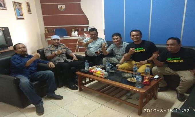 Kabid Humas Polda Banten Sambangi Sekretariat DPD KNPI Banten
