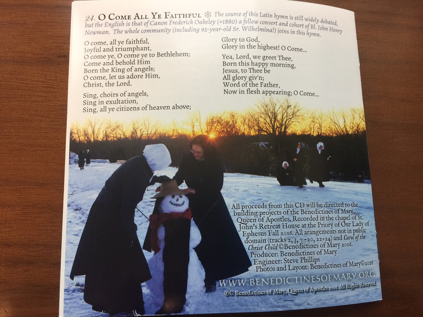RORATE CÆLI: The Benedictines of Mary -- just in time for Christmas