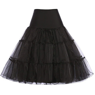 knee length crinoline petticoat