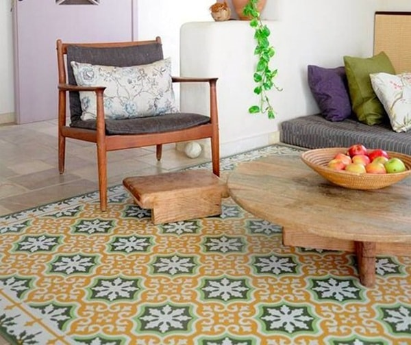 Vinyl Carpets For Decorating With Wood Floor Combination Ideas 12
