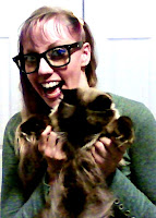 crazy scary cat lady eye glasses dancing cat gif pic balanese colorado