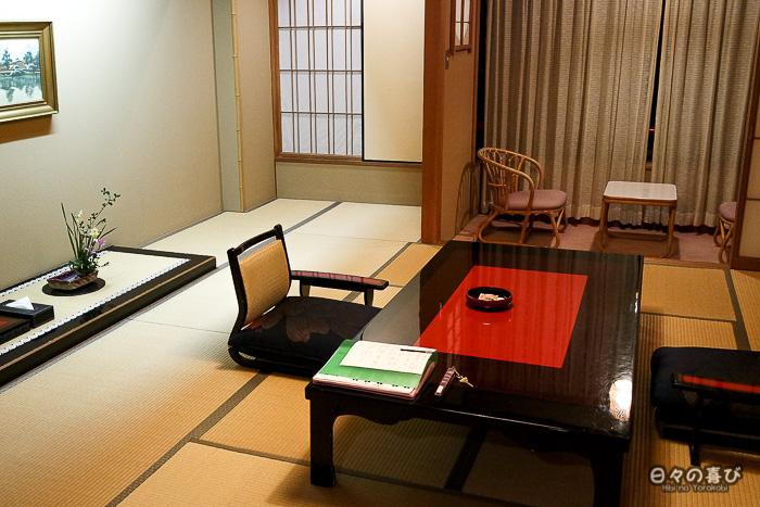 vue sur la chambre japonaise