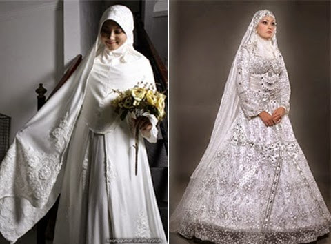 baju pengantin muslimah wanita gemuk modern