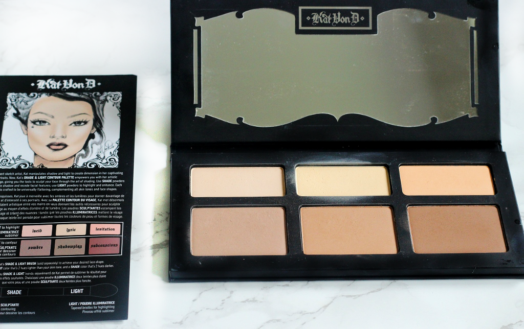 kat von d shade and light contour palette review and swatches