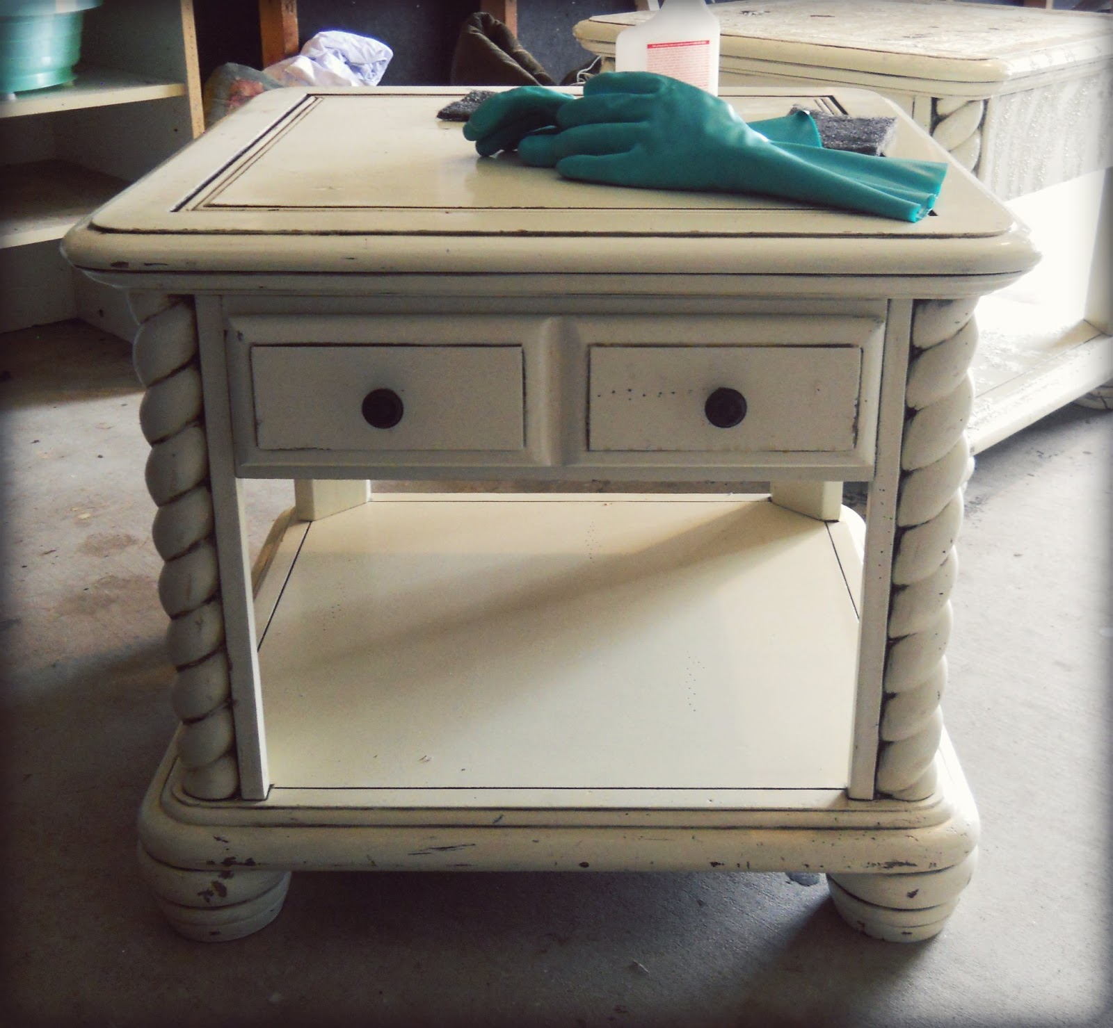 Paw Prints And Paintbrushes Side Table Annie Sloan