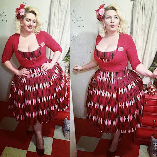 Chocolate harlequin Jenny dress from Pinup Girl Clothing