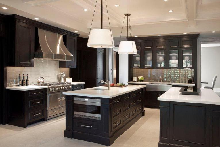 Kitchen Design With Dark Wood Cabinets Home Interior Exterior Decor Design Ideas