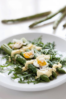 Argula Egg And Asparagus Salad