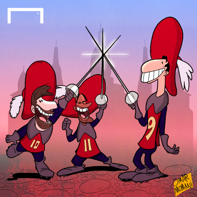 MSN the Three Musketeers cartoon